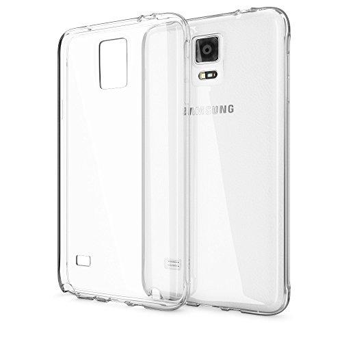 NALIA Handyhülle kompatibel mit Samsung Galaxy Note 4, Slim Silikon Case Hülle Cover Crystal Clear Schutzhülle Dünn Durchsichtig, Etui Handy-Tasche Back-Cover Transparent Schutz Smart-Phone Bumper