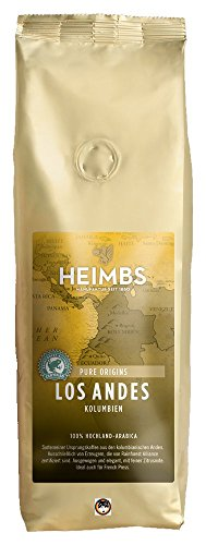 3 Stück HEIMBS Kolumbien Los Andes GANZE BOHNEN Hochlandkaffee 3 x 250 gramm