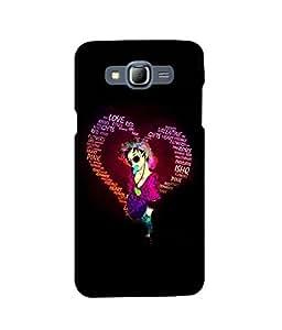 Fuson 2D Printed Love Designer back case cover for Samsung Galaxy J7 - D4382