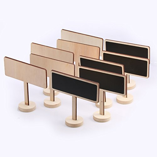 Andux 10pcs / Set Mini-Platz Tafel kleine Tafel für Message Signs Message Board Packung mit 10 MNHB-01