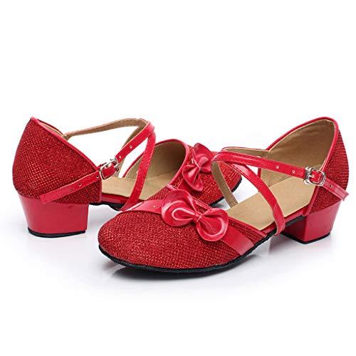Latin Schuhe Babys, Prinzessin Sandalen für Mädchen, Kleinkind-Tanzen-Ballsaal-Tango-einzelne Schuhe, Kinder Wanderschuhe -