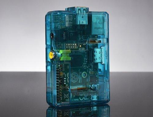 Raspberry Pi funda protectora / caja (azul transparente) para el modelo B
