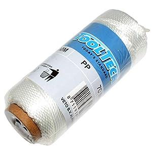 HKB® cuerda,, cordel, 1,5mm de diámetro, color blanco, 70m, PP cuerda