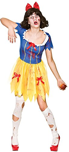 Adult Female Zombie Snow White Fancy Dress Halloween Costume (White Lady Kostüm Ideen)