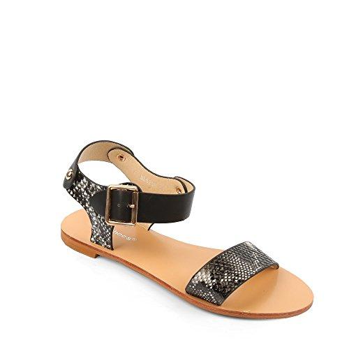 ideal-shoes-sandali-oprah-effetto-rettile-nero-nero-40