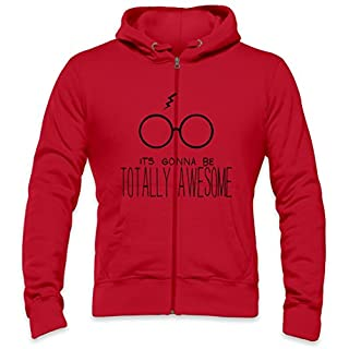 It's Gonna Be Totally Awesome Mens Zipper Hoodie XX-Large