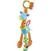 JAMSWALL Giocattolo per passeggino della Giraffa, Peluche della Giraffa Animale Appendere Passeggino Soft Giraffa Handbells per la Culla e Giocare Interactive