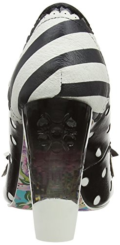 Irregular Choice Dot To Dot, Escarpins Bout fermé Femme Noir (Black)