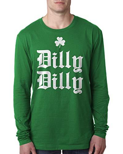 Retta Herren Langarmshirt Dilly St. Patrick's Day - Grün - 3X-Groß