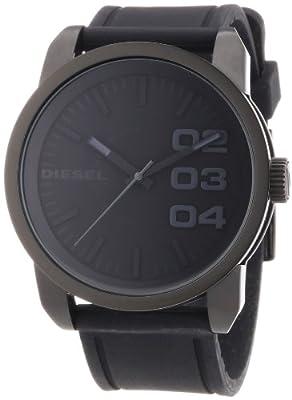 Diesel DZ1446 - Reloj analógico de cuarzo para hombre con correa de silicona, color negro