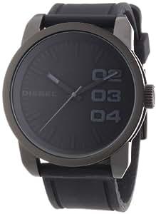 diesel dz1446 montre homme quartz analogique bracelet silicone noir montres. Black Bedroom Furniture Sets. Home Design Ideas