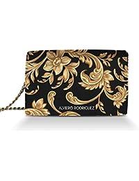 e1c631e436 Alviero Rodriguez Borsa Donna Barocco Arte Gold Oro in Vera Pelle
