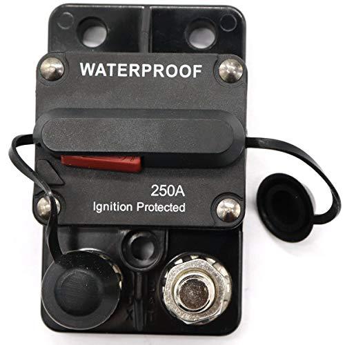 Forspero 50A-250A 12/24V interruttore a doppia batteria riarmo manuale impermeabile fusibile 3/8inch - 250