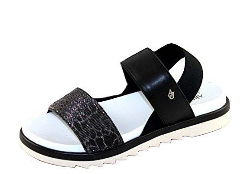 Armani Jeans - Sandalias de vestir de Material Sintético para mujer negro negro, color negro, talla 37 EU