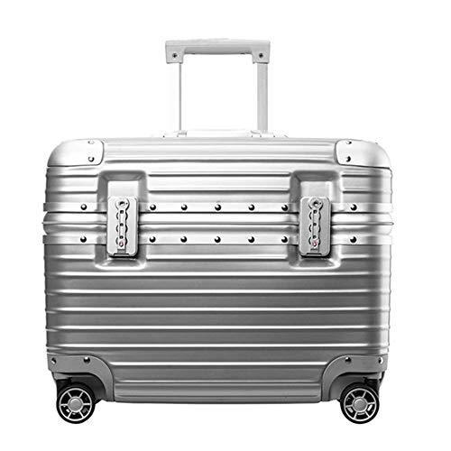 Deposito set 360 ° liscia rotazione valigia rotella universale, trolley personalità di modo impermeabile e indossabile (46 * 23 * 39cm) -silver