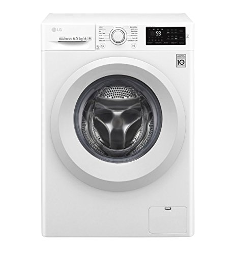 LG f0j5wn3�W Independent Front Load 6.5kg 1000TR/min A + + +, Front Load, stand-alone White Washing Machine���Washing Machines (White, Left, LED, White)
