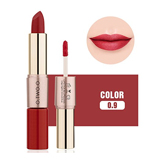 OYOTRIC Newest 2 in1 Matte Lipstick & Lipgloss Waterproof Long-lasting Liquid Lipstick Set Makeup