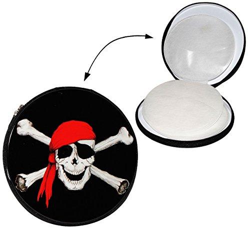 Metallbox Pirat - für 12 - CD / Tasche - Piraten - Aufbewahrung für Kinder Wallet Hülle Box CDTasche CDHülle - Totenkopf / Schatzsuche -Schatzsucher CDs (Knochen Wallet)