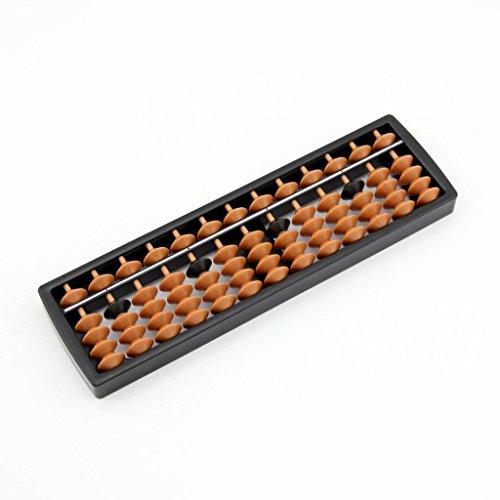 owfeel Mini 13Spalten Kunststoff Abacus Soroban Arithmetik Mathematische Berechnung Bildung Werkzeug -
