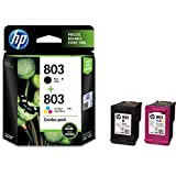 HP X4E76AA 803 Combo-Pack Black & Tri-Color Ink Cartridges