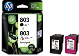 #3: HP X4E76AA 803 Combo-Pack Black & Tri-Color Ink Cartridges