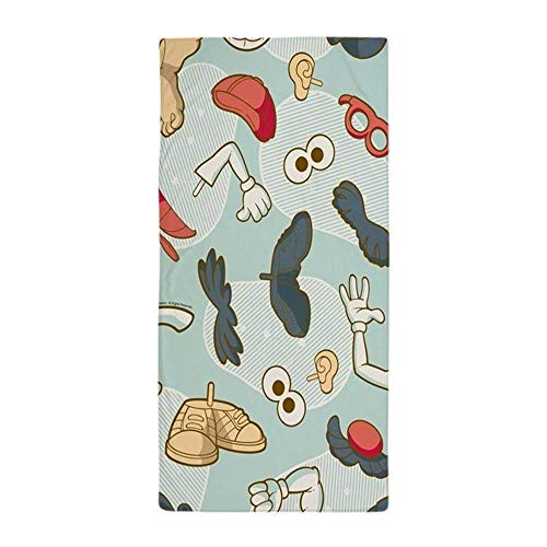 to Head Body PartsLarge Beach Towel, Soft 31