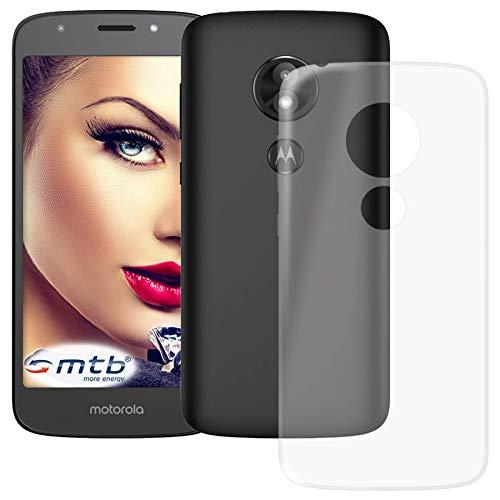 mtb more energy® Schutz-Hülle Clear & Slim für Motorola Moto E5 Play (5.2'') | transparent | flexibel | TPU Silikon Case Cover Tasche