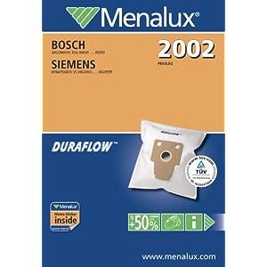 Original Markenware Menalux 2002 / Siemens / VS 08 / Duraflow / Staubbeutel