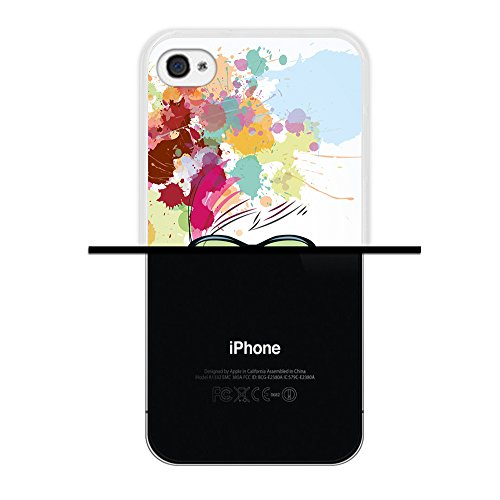 iPhone 4 iPhone 4S Hülle, WoowCase Handyhülle Silikon für [ iPhone 4 iPhone 4S ] Herzen aus Federn Handytasche Handy Cover Case Schutzhülle Flexible TPU - Transparent Housse Gel iPhone 4 iPhone 4S Transparent D0138