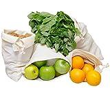 produire des sacs, sacs à jouets, sacs à fruits et légumes, coton biologique réutilisable, sacs réutilisables en vrac, Sac Vrac, Sac Tissu, sacs en coton bio, sacs en coton biologique, paquet de 4