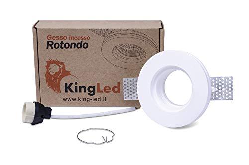 KingLed - Aplique de pared en Yeso Cerámico modelo Redondo, de Empotrar...