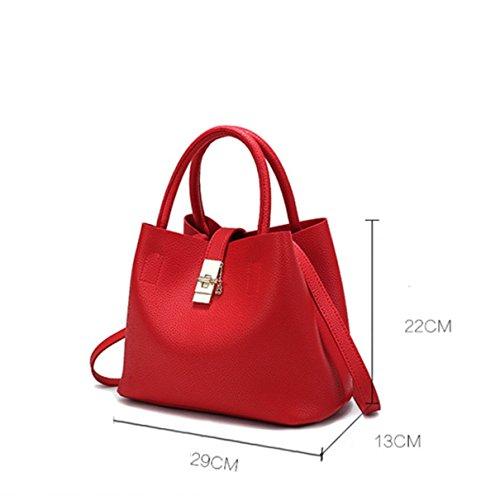 Ms. Umhängetasche Messenger Tasche Handtasche Bucket Geprägte Pink