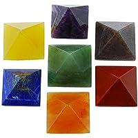 Harmonize Semipreciosa 7 Pirámides Sistema Cristalino De Generador De Energía Reiki Sagrado Feng Shui