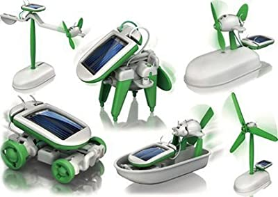 6 in 1 Educational Solar Robot Energy Kit Science School Projects For Kids.