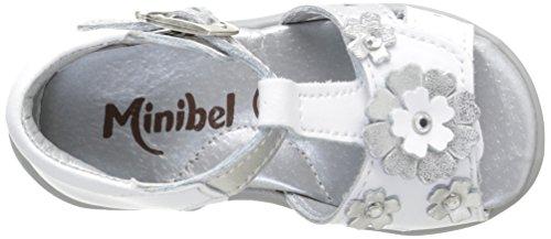 Minibel Kadija, Chaussures Premiers pas bébé fille Blanc (1 Blanc/Argent)