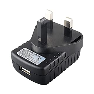 MyVolts UK power lead 5V plug compatible with Audioline Phone MT 1000