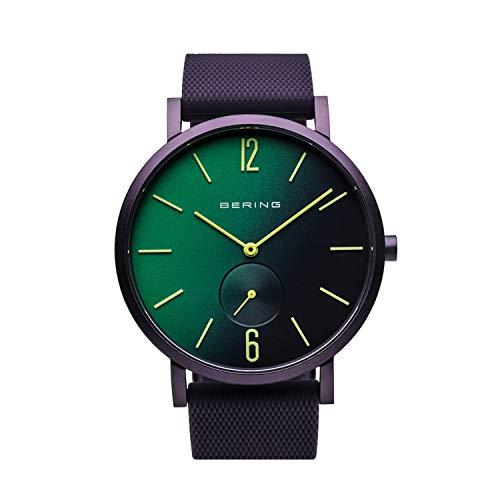 BERING Reloj Analógico para Unisex de Cuarzo con Correa en Silicona 16940-999