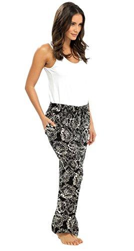 Lora Dora Damen Hose Schwarz - Black/White Pants Only