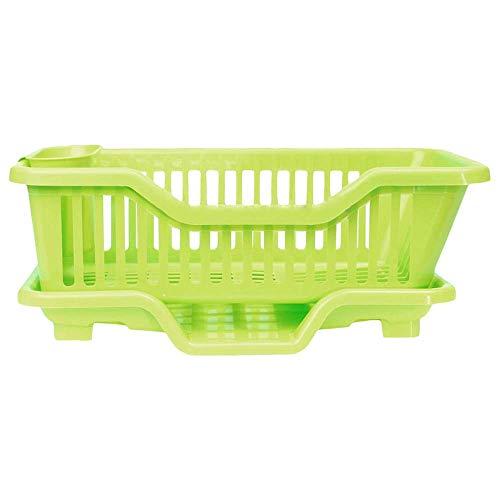 Kochnische Plattenteller Utensil, Durable Platte Entleerer Rack und Tray Perfect for Sinks, Rack Holder Basket Organizer Utensil Rack