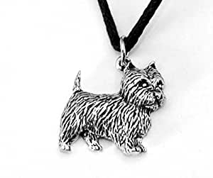 Westie Dog Collier Pendentif en étain anglais fait à la main, Figurine Terrier West Highland (th)