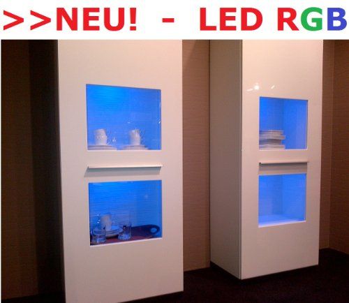 LED RGB Vitrinenbeleuchtung Glasbodenbeleuchtung Möbelleuchte Schrankleuchte SET (RGB - 3er SET)