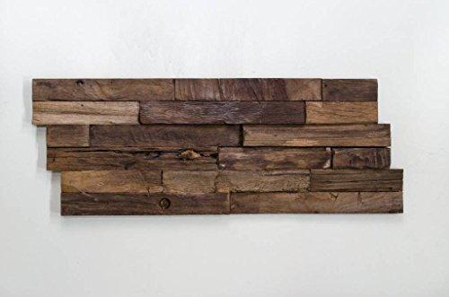 Holzverblender 3D Wood Panel Carved Charred kein FSC !