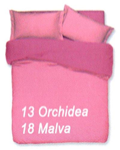 Copripiumino sacco copripimino 2 federe double face tinta unita art. cobra matrimoniale 2 piazze 255x230 cm colore orchidea/malva