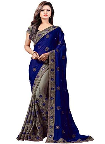 Arohi Designer Georgette Saree (Shonayablue-Sb!!_Blue)