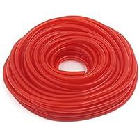 sourcingmap 18M Rojo Silicona Manguera de Aceite Gasolina Tubo de Moto 5mm X 8mm