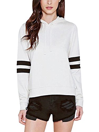 Damen Sweatshirt Kapuzenpullover Pullovershirt Hoodie Elegant Top