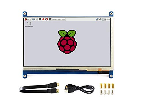 Waveshare 7 Inch Capacitive Touch Screen LCD(C) 1024 * 600 HDMI Interface Display Shield Panel Supports Raspberry Pi/BB Black/PC/Various Systems/Raspberry Pi 3 Model B/3B+