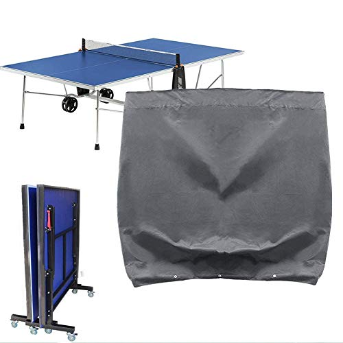 Milopon Schutzhülle Tischtennisplatte Wasserdichte Tischtennis Schutzhülle Ping Pong Platte Gartenmöbel Plane Hülle Abdeckung Wasserabweisend schützen vor Nässe und Schmutz 165 * 70 * 185cm