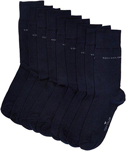 TOM TAILOR Herren Socken 9003Z, 9er Pack, Gr. 43/46, Blau (dark navy 545)