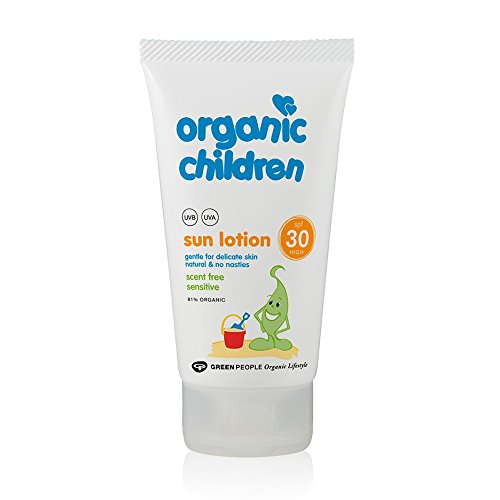 Green People Children's Sun Lotion Scent Free SPF25 (150ml) -